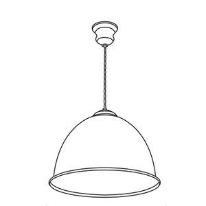 Euston Bespoke 1 Light Pendant