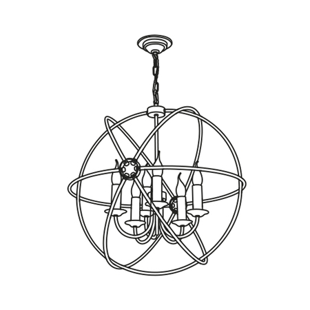 Orb Bespoke 6 Light 900mm Pendant