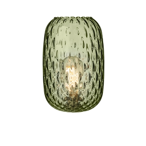 Vidro Small Dimpled Olive Green Glass