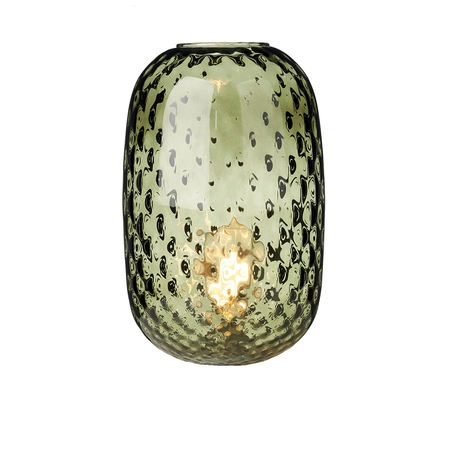 Vidro Large Dimpled Olive Green Glass