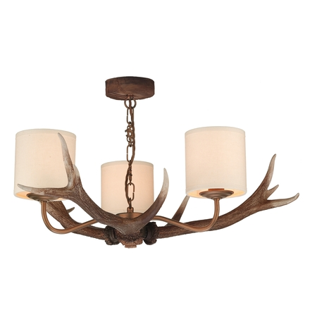 Antler Rustic 3 Light Pendant