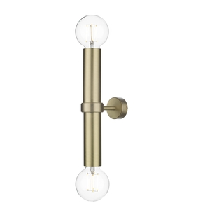 Adling Double Wall Bracket Butter Brass