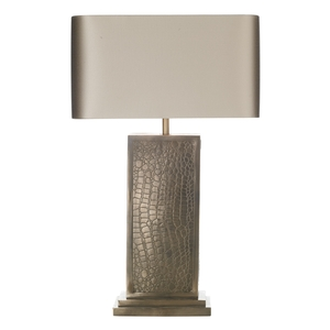 Croc Table Lamp Bronze