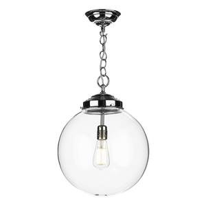 Fairfax Polished Chrome Pendant Clear