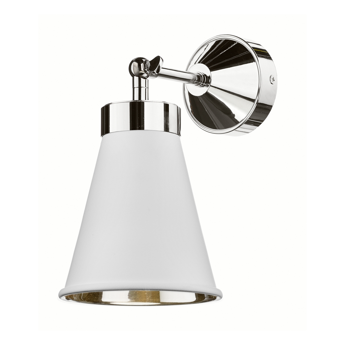 Hyde Single Wall Light Polished Chrome