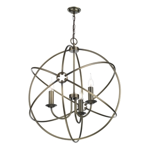 Orb 3 Light Pendant Antique Brass