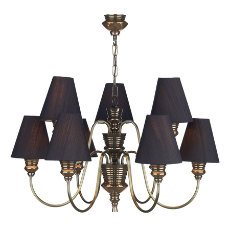 Doreen Bronze 9 Light Pendant with Bespoke Silk Shades