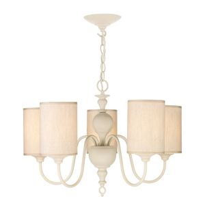 Flemish Cream 5 Light Pendant