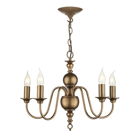 Flemish Matt Bronze 5 Light