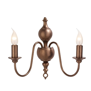 Flemish Bronze Double Wall Light