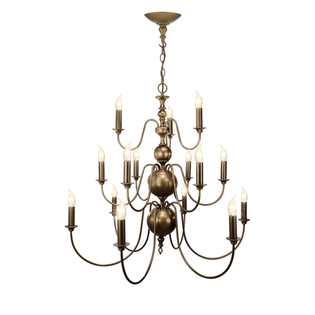 Flemish Matt Bronze 15 Light