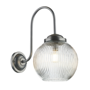 Henley Chrome Glass Wall Light