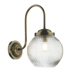 Henley Antique Brass Glass Wall Light