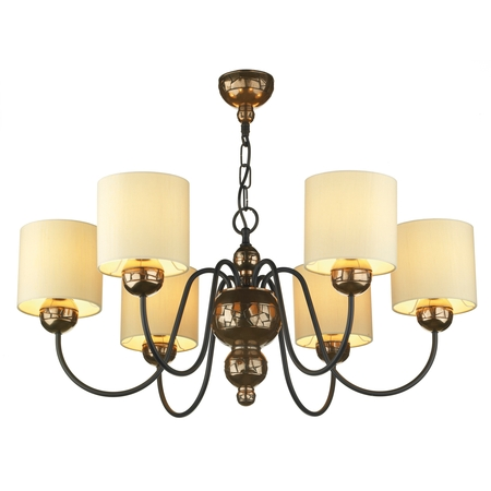 Garbo Bronze 6 Light Pendant with Cream Shades