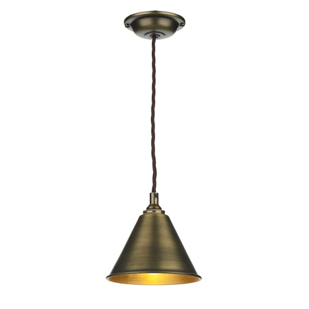 London Pendant Antique Brass