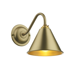 London Wall Light Butter Brass