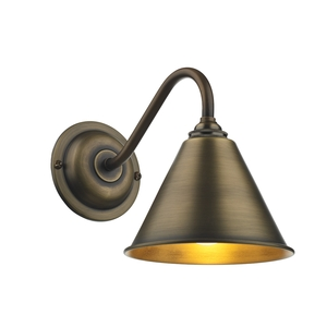 London Wall Light Antique Brass