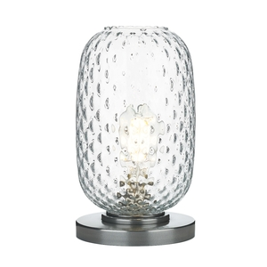 Vidro Pewter Small Table Lamp Clear