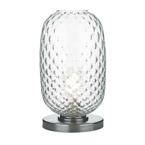 Vidro Pewter Large Table Lamp Clear