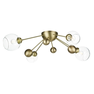 Cosmos 4 Light Semi Flush Butter Brass