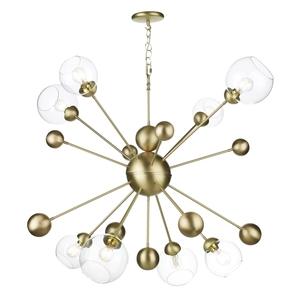Cosmos 8 Light Horizontal Pendant Butter Brass