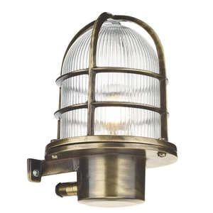 Pier Outdoor Wall Light Antique Brass