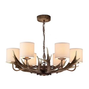 Antler Rustic 6 Light Pendant