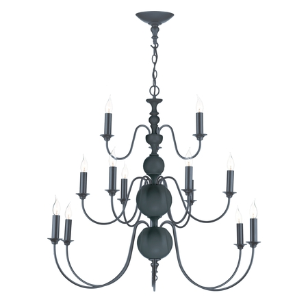 Flemish Smoke Blue 15 Light Pendant