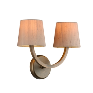 Earl Antique Brass double wall light
