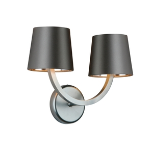 Earl Satin Chrome double wall light