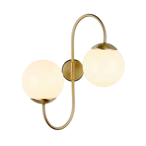 Gavroche Butter Brass double wall light