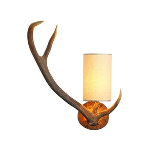 Antler Rustic Left Hand Wall Light