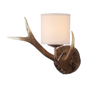 Antler Rustic Small Wall Light