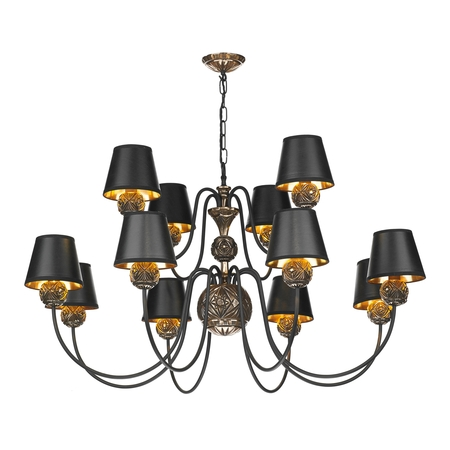 Novella Bronze 12 Light Pendant