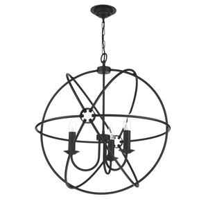 Orb Black 3 Light Pendant