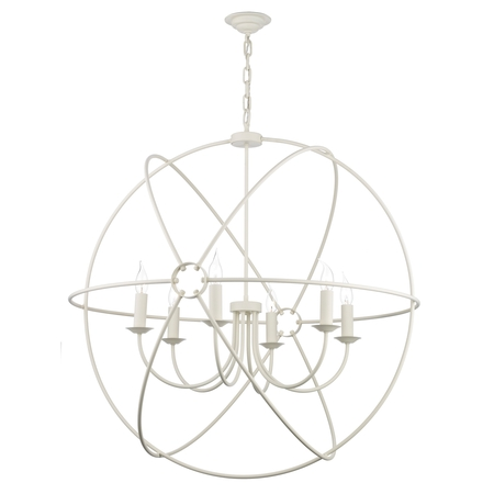 Orb Cream 6 Light Pendant
