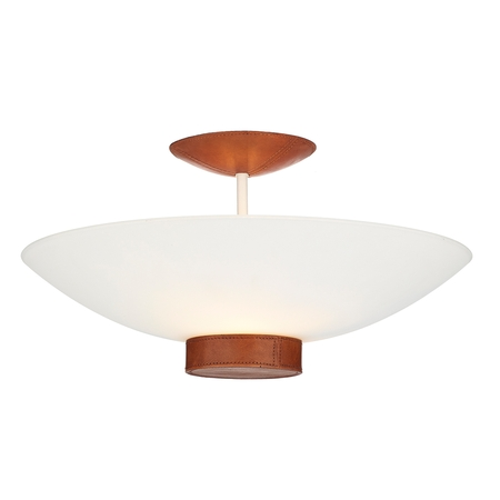 Saddler Disc Semi Flush Pendant