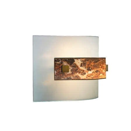 Savoy Dark Marble Halogen Wall Light