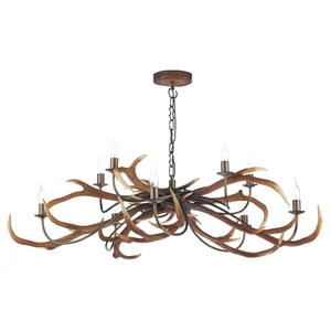 Stag Rustic 10 Light Pendant