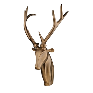 Stag Head Bronze Wall Sculpture