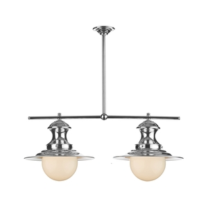 Station Polished Chrome 2 Light Pendant