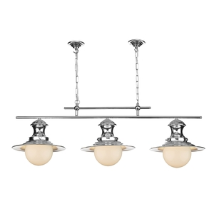 Station Polished Chrome 3 Light Pendant Bar