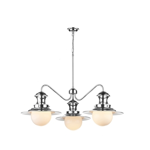 Station Polished Chrome 3 Light Pendant