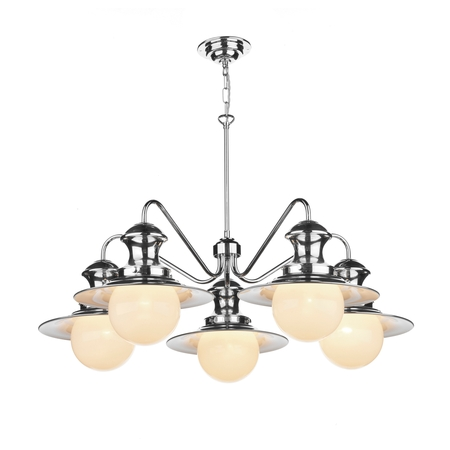 Station Polished Chrome 5 Light Pendant
