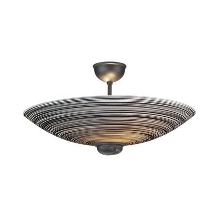 Swirl Black Semi Flush Pendant