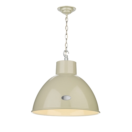 Utility French Cream Large Pendant