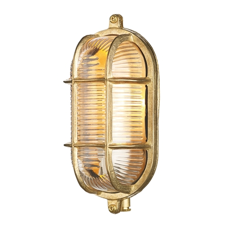 Admiral Small Oval Bulkhead Brass