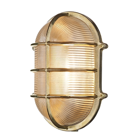 Admiral Large Oval Bulkhead Brass