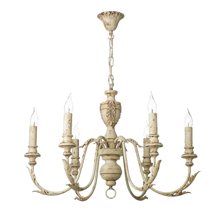 Emile Rustic French 6 Light Pendant