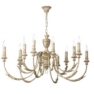 Emile Rustic French 12 Light Pendant